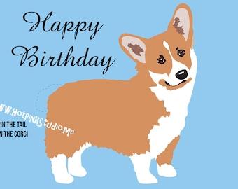 GAME CORGI PIN the Tail on the Tan Corgi Dog Birthday Party Game - diy party game - Printable Game - Dog Party Decor - Dog Banner