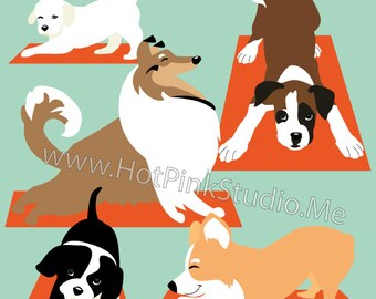 LEGGINGS YOGA DOGS - Yoga Dogs Leggings for Women -  Dog Lover Gift - Dog Mom Gift