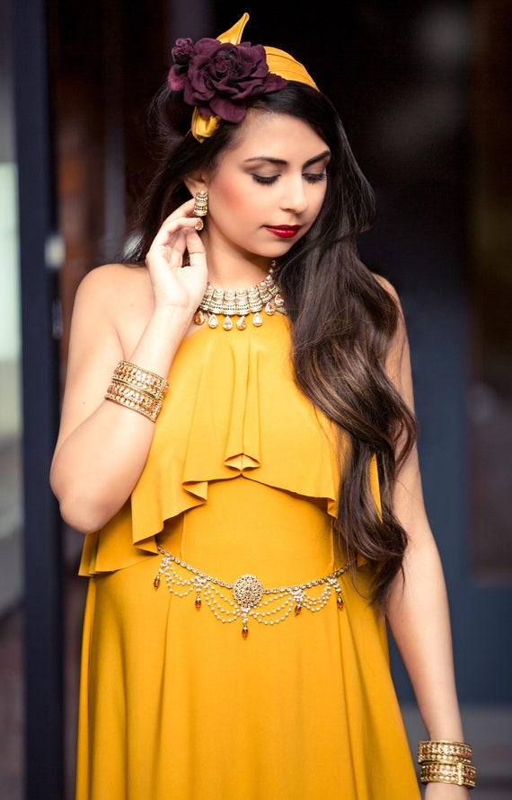 Alisha Gold pearl zirconia necklace and earrings sets