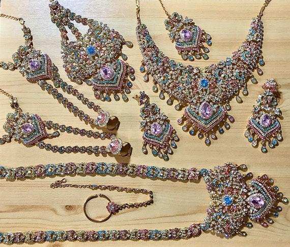 Nasheli Multi coloured Indian bridal set