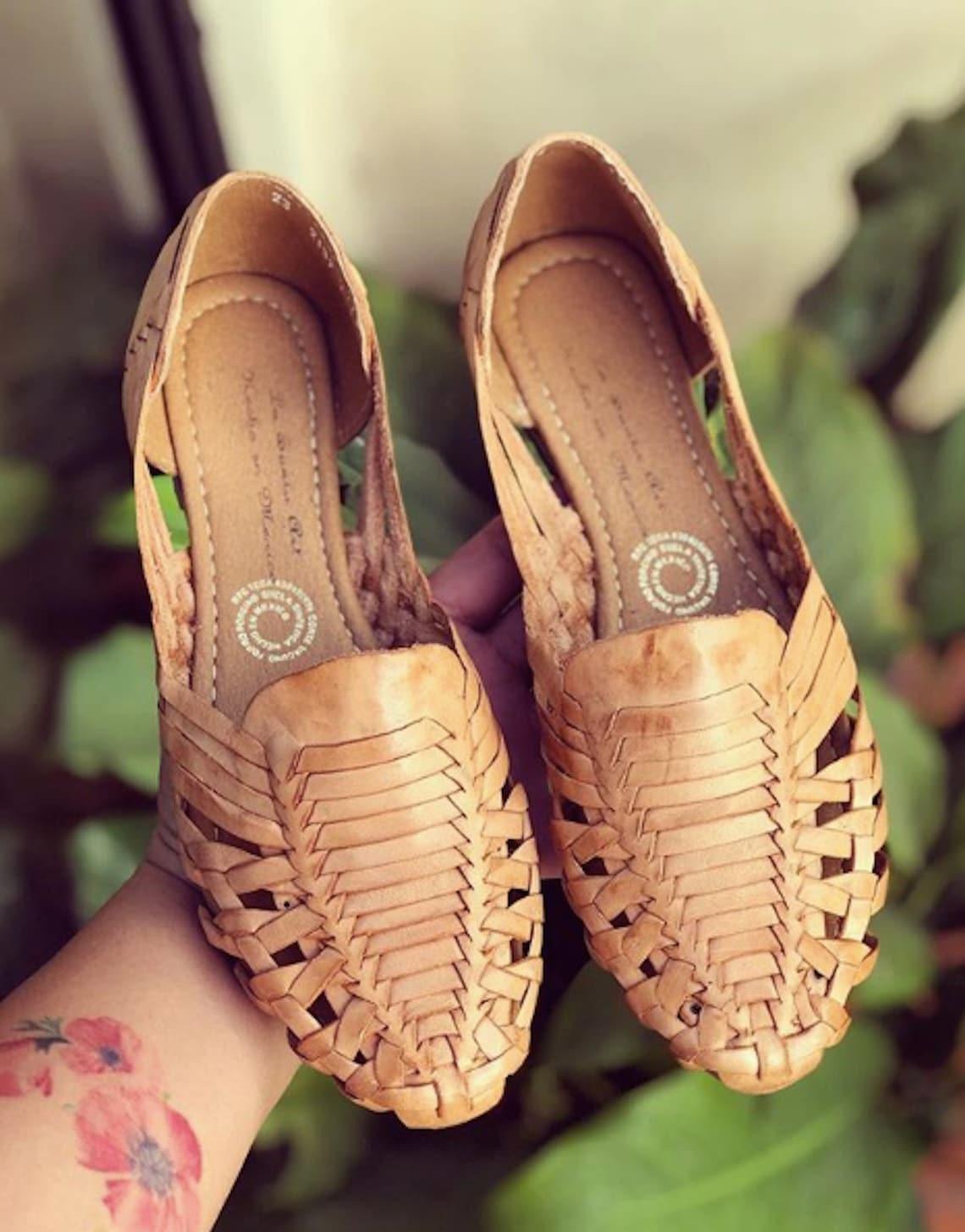 Huarache Mexican Sandal Tan Boho Hippie Vintage - Big Sale Nxtuu