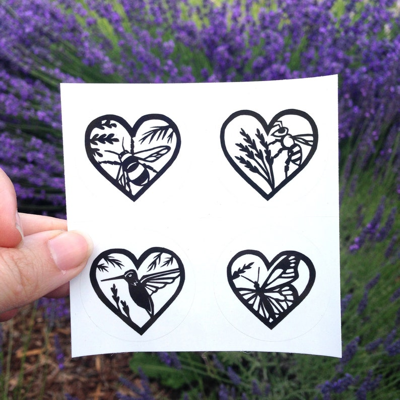 Lovely Nature Stickers Set of 4 image 0