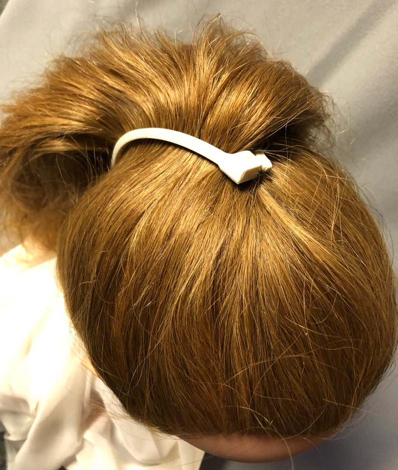 USA made hair comb barrette 6-pack neutral colors clincher comb 80s90s retro hair clip SMALL size ponytail holder Banana clips 5