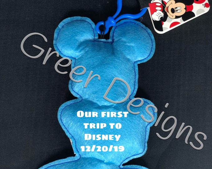 Personalized mouse bag tag keychain great if you\u2019re going to the happiest place on earth