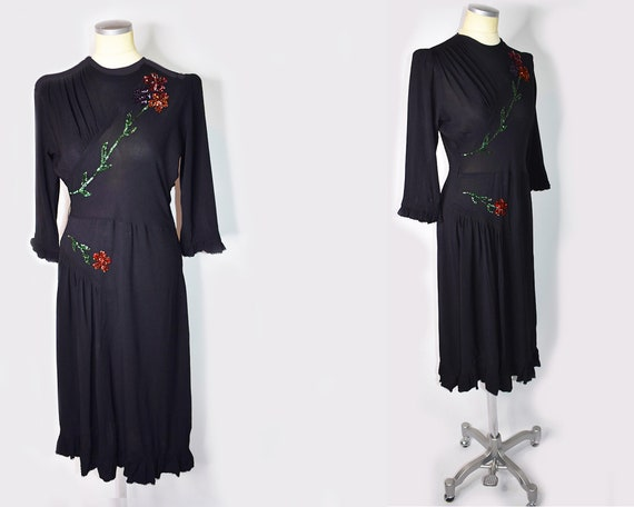 1940's Era World War II Dress | 1940's Dress | Vin