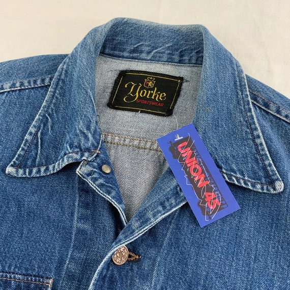 Vintage 60s Yorke Sportswear Blue Denim Jean Jack… - image 4