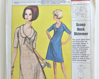 McCalls Sewing Pattern 2356 Miss Jacket Dress Size 20 22 24 80s Fashion