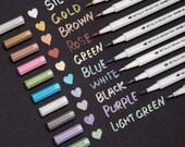 Bianyo Metallic Brush Marker , Calligraphy Painting Pen for Card Making, Rock , Glass, Metal, Wood, Lettering, DIY Photo Album