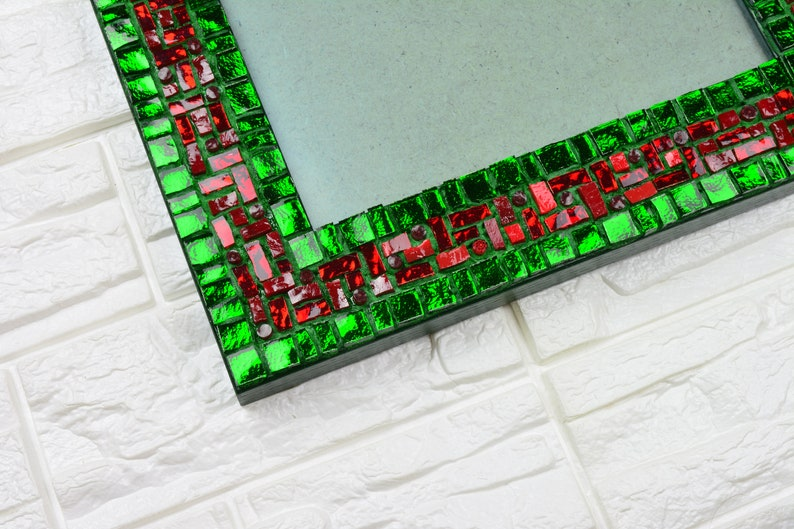 Luxury glass mosaic photo frame Red River