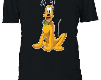 Disney Pluto le Chiot Chien Animal Cartoon Drôle Film Hommes Femmes Unisexe T-shirt 649