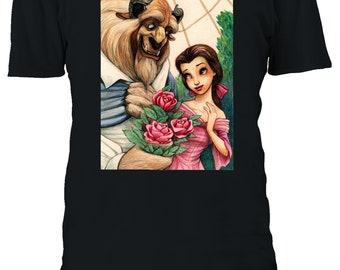 Disney Beauty And The Beast T-shirt Vest Tank Top Men Women Unisex 2472