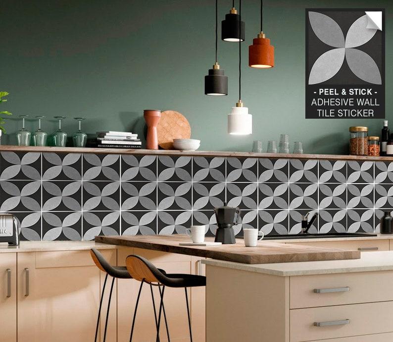 Portuguese Tile Stickers Removable Vinyl Wallpaper Kitchen and Bathroom Splashback