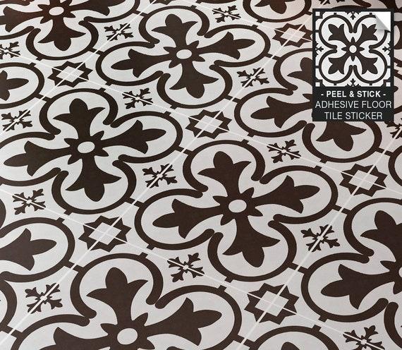 set of 12 stickers  pv15 Vinyl floor tile sticker floor tile stickers tile decal removable peel /& stick vinyl  floor decal tile