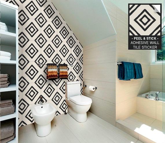 Colours Matt Gloss Tile Stickers 14,7 x 19,7 cm for Kitchen Shower Bathroom