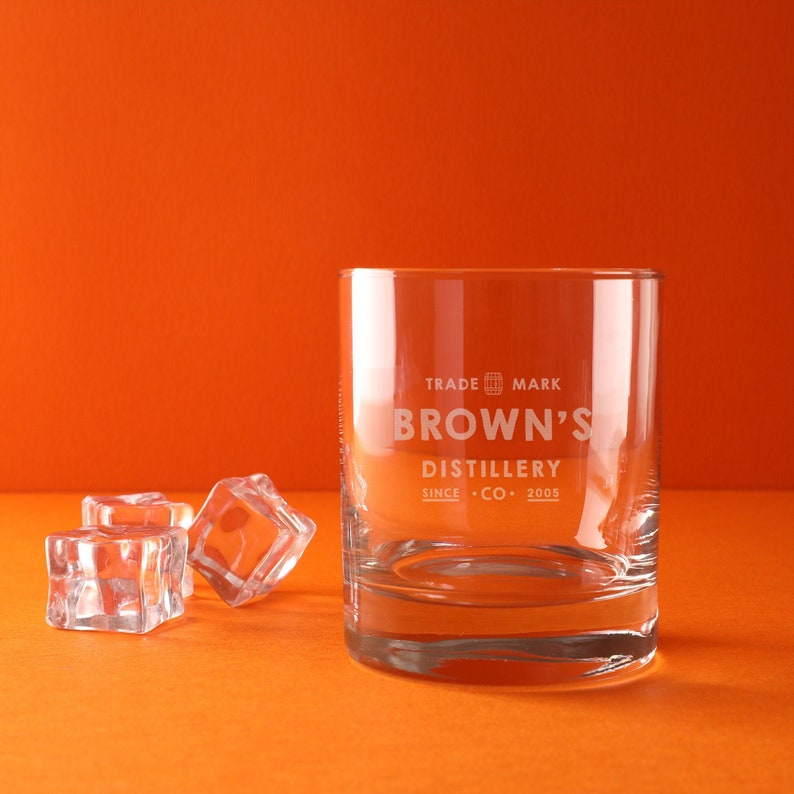 Personalized Birthday Gift for Men Women Friends Personalised Home Brewery Whiskey Glass Tumbler Whisky Lover Present