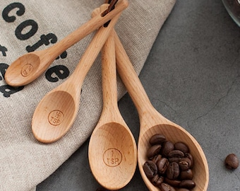 Made In Maine Handmade Wooden Tablespoon Engraved I Love you beyond measure USA