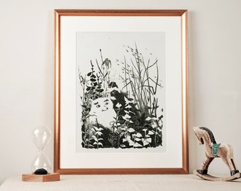 Bear - Lithography - Original numbered creation