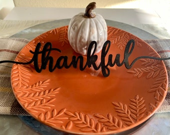 Thanksgiving place cards, thanksgiving decor, table decor, placemat decor, table setting, Farmhouse Decor, Thankful Grateful Blessed Gather