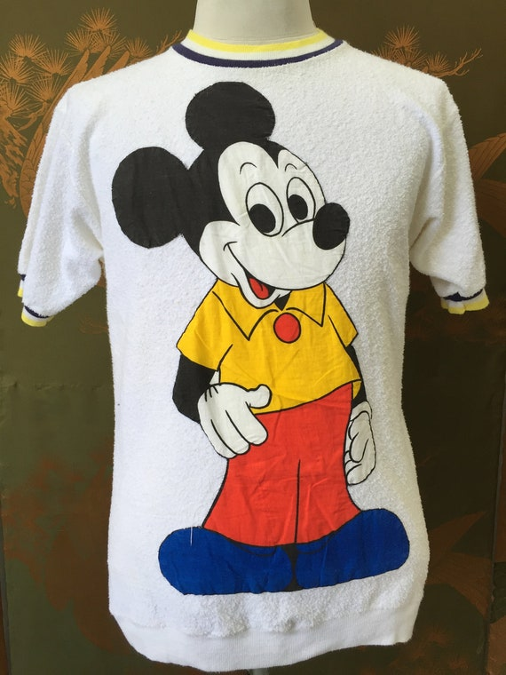 Vintage 60s70s MICKEY MOUSE ringer big logo tshirt
