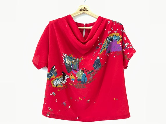 Japanese traditional pop art design for women shir