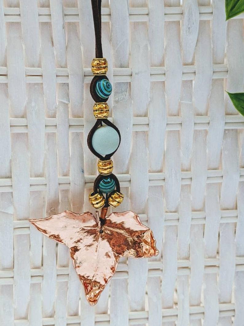 Real Ivy Leaf Copper Electroformed Necklace