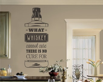 Whiskey Wall Decal Etsy