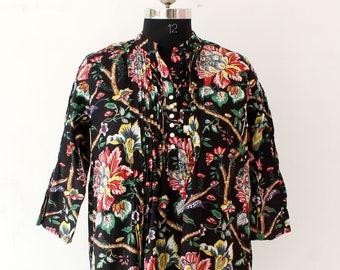 Handmade Cotton Plan Dress Indian Girl/'s Tunic Top Summer Dress Colorful Bohemian Dress Women/'s Boho Top