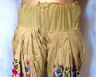 Sea Green Hand Embroidered Women/'s Phulkari Pant Cotton Patiala Salwar Indian Trousers Hippie Handmade Sequin Work Pant
