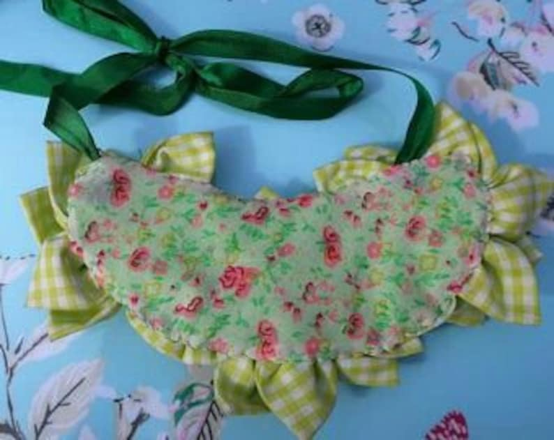 Statement Necklace Crystal Necklace Flower Necklace Fabric Flower Bib Necklace Bridal Spring Jewellery