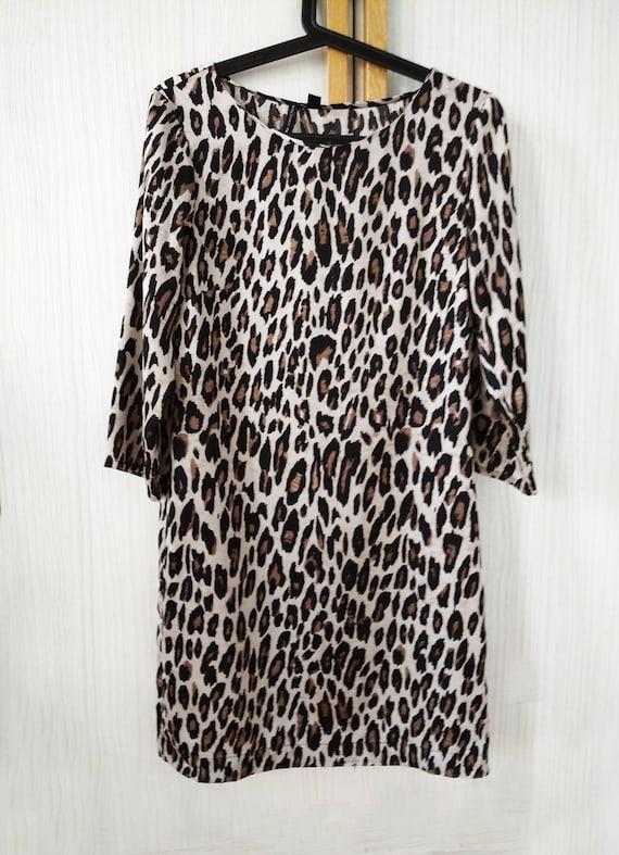 Vintage Mango Dress,Mango leopard animal print dre