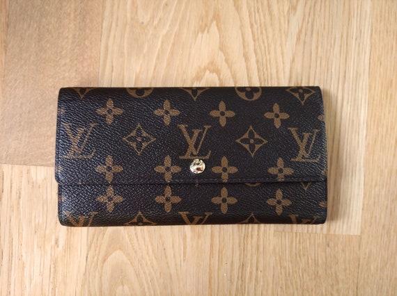 Vintage Louis Vuitton wallet,Brown Designer Wallet