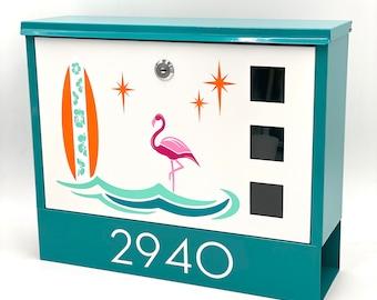 "Atomic Avocado Designs® Mid Century Modern Stylized ""Flamingo"" Mailbox"