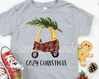 Cozy Coupe Children's Christmas Shirt, Cozy Christmas