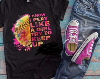I know I Play Like a Girl YOUTH Graphic Tee and Hoodie