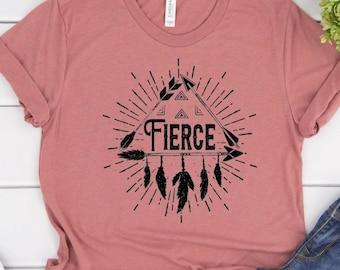 Fierce, Western Theme Graphic Tee