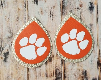 Layered Tiger Paw Earrings