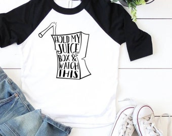 Hold My Juice Box, Youth Graphic Tee