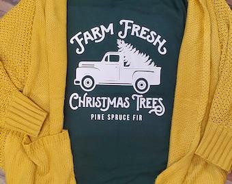 Farm Fresh Christmas Trees, with truck