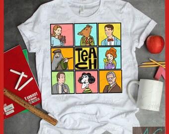 Famous Fictional Teachers Squares, Graphic Tee