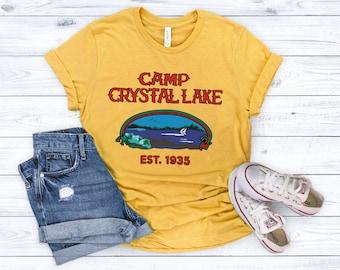 Camp Crystal Lake T Shirt Friday the 13th Jason Voorhees Horror Movie Shirts Vintage Shirt 80s