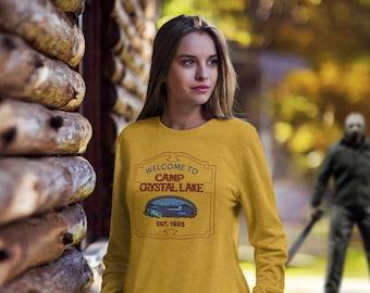 Friday the 13th Jason Voorhees Camp Crystal Lake Sweatshirt   Horror Movie Gift