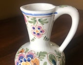 Italian Pitcher - Small Vintage Hand Painted Pitcher