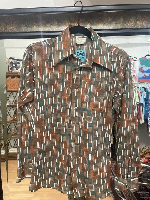 Vintage 70's kings road Sears disco shirt