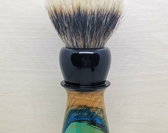 The 'Caustic' Shaving brush. matched with natural or synthetic hair.