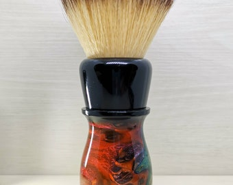 The 'Morpheus' Shaving brush. Handmade shaving brush made from resin, matched with natural or synthetic hair.