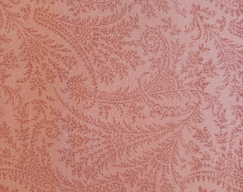 1800S Vintage Reproduction Fabric by RJR Dark Gray and Burgundy Paisley Like Design by Jinny Beyer 2 Yard Piece #785