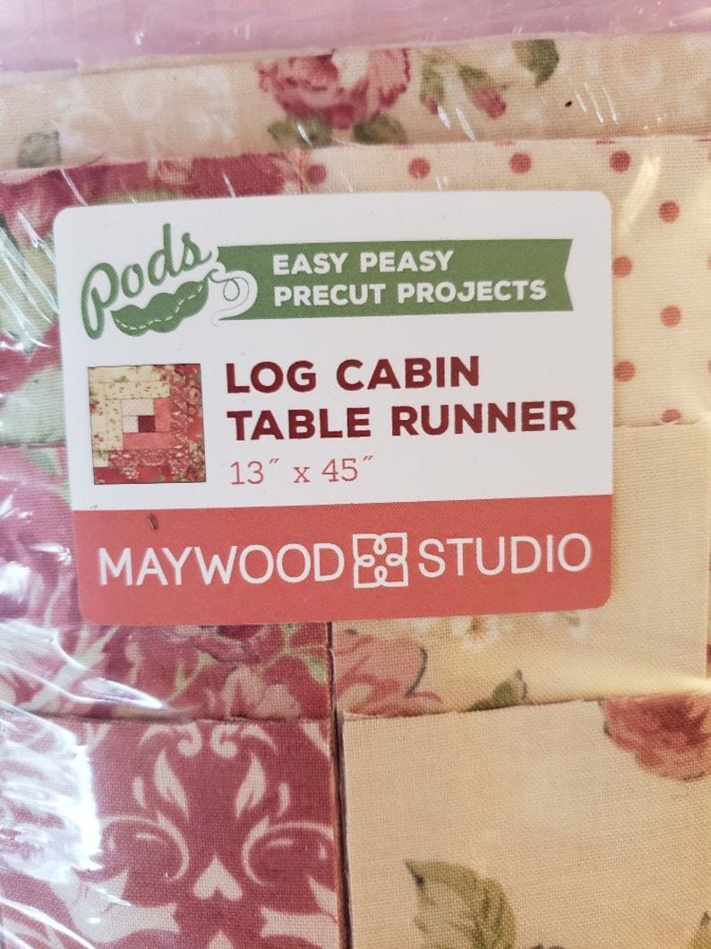 Log Cabin Table Runner Maywood Studio precuts Pods Easy Peasy Precut Projects