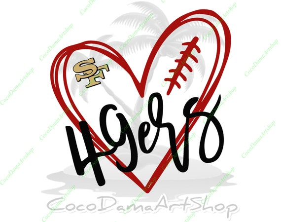 Love 49ers Svg San Francisco 49ers Svg Sf Logo Svg Png Dxf Pdf Etsy