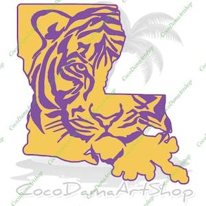 Tigers Svg Etsy