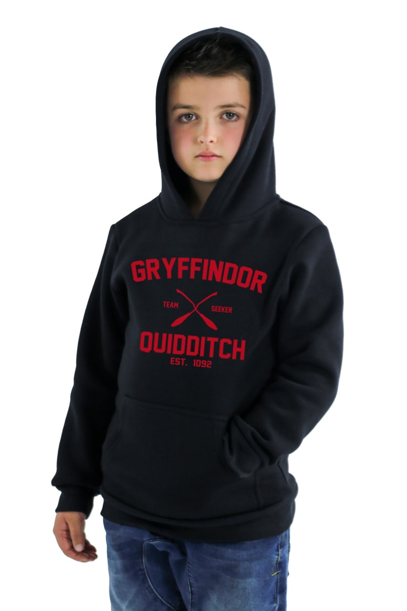 Gryffindor Kid Hoodie Gryffindor Quidditch Kid High Quality Soft Hooded Sweatshirt